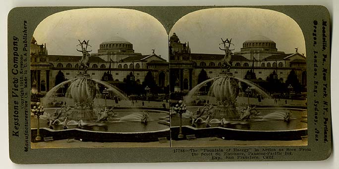 A. Stirling Calder, Fountain of Energy. Stereoview: Keystone View Company, 1915.