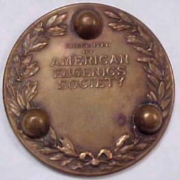 American Eugenics Society Medallion (reverse)
